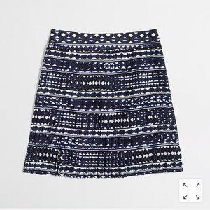 J.Crew Geometric Print Pleated Skirt